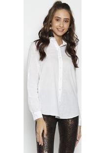 Camisa Lisa - Branca - Moisellemoisele