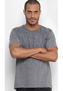 Camiseta Local Estampada Masculina - Masculino-Mescla
