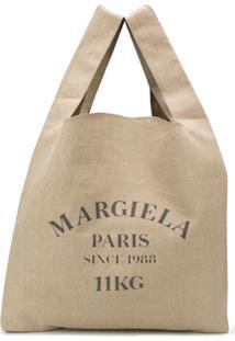 Maison Margiela Bolsa Tote Com Estampa De Logo - Neutro