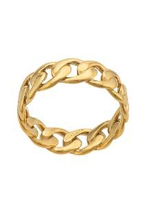Nialaya Jewelry Round Chain Ring - Dourado