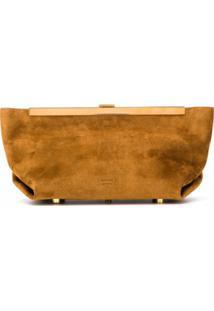 Khaite Aimee Suede Clutch Bag - Marrom