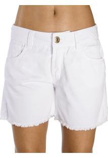 Bermuda Sarja Color Colcci Feminino - Feminino-Branco