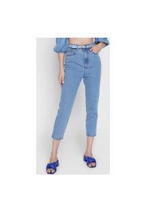 Calça Jeans Lança Perfume Mom Tag Azul