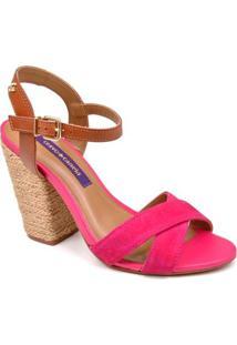 Sandália Cravo E Canela Espadrille - Feminino-Pink