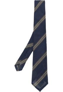 Tagliatore Gravata Com Bordado Listrado - Azul