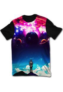 Camiseta Manga Curta Stompy Psicodelica 37 Preto