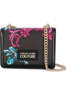 Versace Jeans Couture Bolsa Transversal Com Estampa Floral - Preto