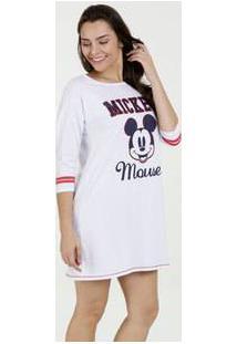 Camisola Feminina Estampa Mickey Manga 7/8 Disney