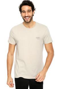 Camiseta Richards Estampa Bege
