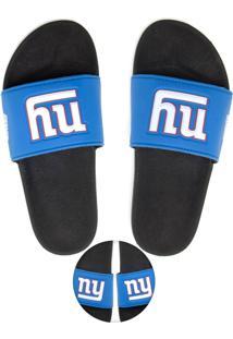 Chinelo Slide Nfl New York Giants Azul/Preto