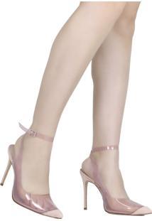 Sapato Feminino Scarpin Schutz Salto Fino Vinil