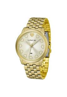 Relógio Analógico Lince Feminino - Lrgh093L Dourado