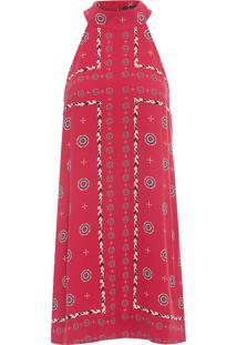 Vestido Curto Lenço Porto - Vermelho