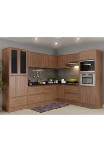Cozinha Completa Multimã³Veis Com 15 Peã§As Calã¡Bria 5461Rmf Nogueira - Incolor/Marrom - Dafiti