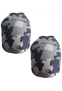 Capa P/Carretilha Perfil Baixo Camuflada - 2 Unidades