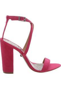 Sandália Salto Nobuck Pink | Schutz