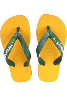 Sandália Havaianas Brasil Logo - Masculino-Amarelo Claro