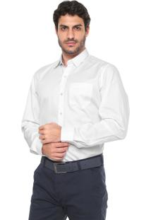 Camisa Lacoste Regular Fit Bolso Branca