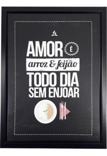Quadro Decorativo Amor Arroz Feijão 30X40Cm - 28095