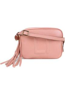 Bolsa Couro Luz Da Lua Mini Bag Feminina - Feminino-Rosa Claro