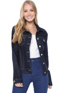 Jaqueta Jeans Denuncia Pespontos Azul