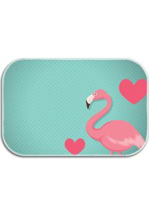 Tapete Decorativo Lar Doce Lar Flamingos 40Cm X 60Cm Tuquesa