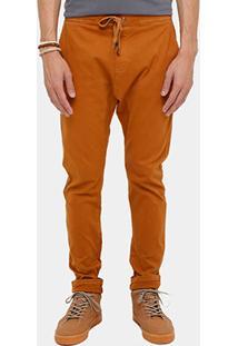Calça Redley Sarja Confort Amarração Masculina - Masculino