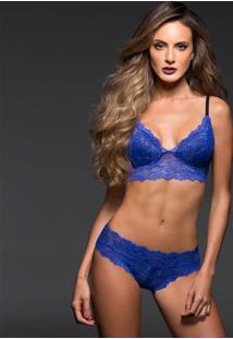 Conjunto Lingerie Renda Top E Boneca Azul Marcyn | 541.721