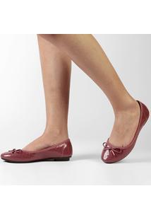 Sapatilha Moleca Matelassê Laço - Feminino-Rosa Escuro