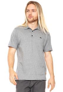 Camisa Polo Quiksilver Porcifix Cinza