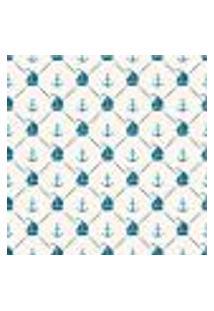 Papel De Parede Adesivo - Barco E Ancora Azul - 028Ppb