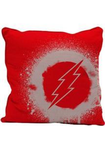 Capa Para Almofada - Dc Comics - Flash - Logo Grafite - Vermelho - 45X45 - Metrópole