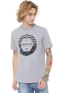 Camiseta Hd Dark Floral Cinza