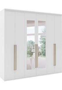 Guarda-Roupa Casal Originale I Com Espelho 6 Pt 6 Gv Branco