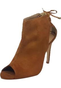 Ankle Boot Summer Week Shoes Salto Alto Caramelo