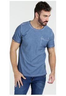 Camiseta Masculina Bolso Manga Curta Kohmar