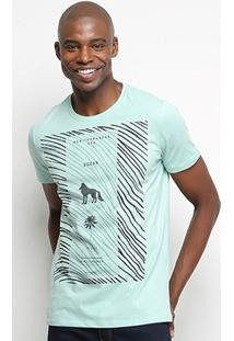 Camiseta T-Shirt Acostamento Ocean Masculina - Masculino-Verde