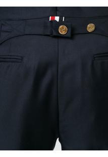 Thom Browne Calça De Alfaiataria Cropped - Azul