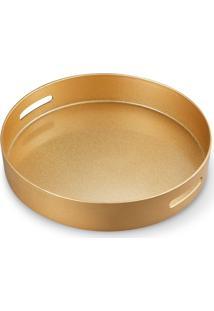 Bandeja Bencafil Glitter 40 Cm Dourada