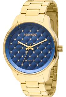 c83ed9b063c44 Eclock. Relógio Aço Dobrável Analógico Feminino Technos Clock Trend ...