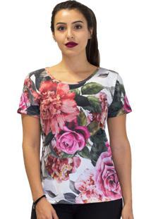 Camiseta Mary Lemon Flores Branca