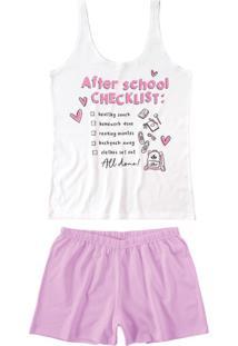 Pijama Curto Checklist Malwee Liberta