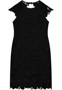 Vestido Endless Guipir - Feminino-Preto