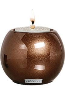 Castiçal De Cerâmica P 9X10X9 Bronze 37083 Mazzotti