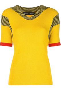 Proenza Schouler Blusa Terry Boucle De Tricô - Amarelo