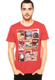 Camiseta Fashion Comics Batman Vermelha