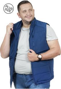 Colete Plus Size Nylon Bigshirts Azul / Azul