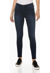 Calça Jeans Feminina Five Pockets Cintura Alta Azul Marinho Calvin Klein Jeans - 40