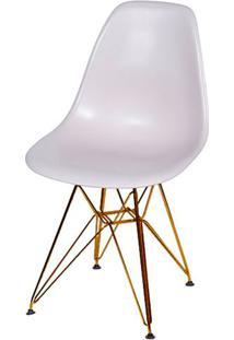 Cadeira Eames Polipropileno Fendi Base Cobre - 45981 - Sun House
