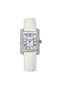 Relógio Feminino Wwoor 8806 - Branco E Prata